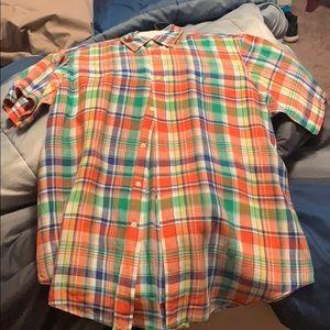 Orange button down polo